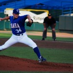 Matt Herges, pitchin'. Photo by me.