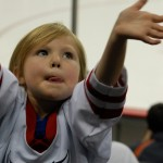 From the series against Mankato a few weeks ago. An adorable tiny child.