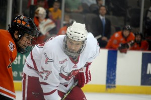 From last year's playoffs - Matt Ambroz and a Bowling Green player facing off.