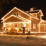 My childhood home, in lights. I think my brother actually took this.